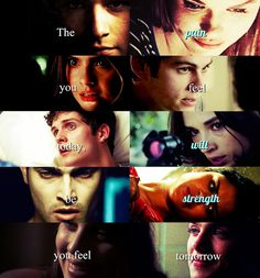 The pain you feel today, will be strength you feel tomorrow. Teen Wolf