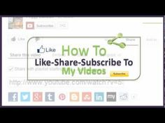 How to Like-Share-Subscribe To YouTube Videos http://www.SuiteMinute.com  If you like my videos, please share with your social network. Subscribe to my channel so you'll find out first when I upload more. Here's a quick video to show you how to do all this.    ,,,,,,,,,,,,,,,,    CONNECT WITH US    YouTube Channel: http://YouTube.com/user/digitalbreakthroughs    Full Tutorials: http://www.TheDBI.co...