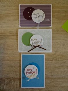einfache schnelle Stampin up Karte Geburtstagskarte Männer Frauen neutral SU Happy Birthday Alles Gute Geburtstag Kreis Stanze
