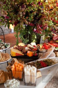 Grasmere Farm Wedding from Christian Oth Studio + Matthew Robins + Charmed Places Beautiful al fresco cheese and wine buffet table spread… Antipasto, Barbecue Party, Fingers Food, Coffee Break, 2015 Wedding Trends, Tapas, Cheese Party, Food Displays, Wine Parties