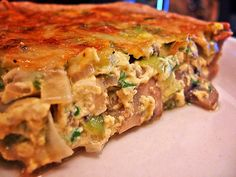 Quiche is something that most people either love or hate. There are several versions of quiche, all of them offering a different taste. Quiche Recipes, Tart Recipes, Low Carb Recipes, Cooking Recipes, Meatless Recipes, Vegetable Recipes, Lasagne Dish, Leek Tart, Leek Quiche
