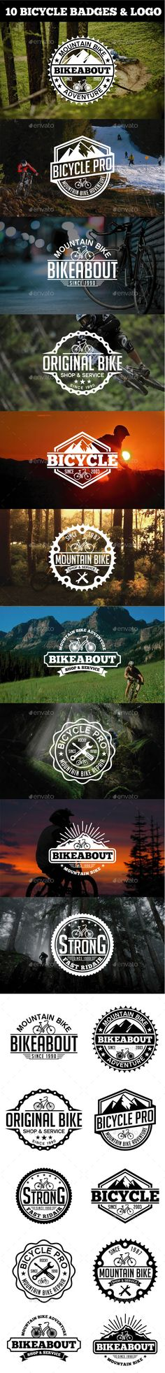 Sport Bicycle Badges & Logo #design Download: http://graphicriver.net/item/sport-bicycle-badges-logo/11481387?ref=ksioks