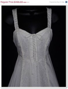 On Sale Vintage 70s Gunne Sax Crochet Lace Corset by calicovintage - Find in 11/13!
