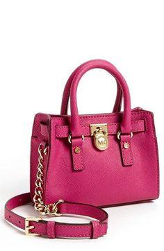 MICHAEL Michael Kors 'Hamilton - Mini' Leather Messenger Bag available at #Nordstrom