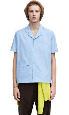 Cos Man, Open Collar Shirt, Safari Shirt, Mens Fashion Wear, Bowling Shirts, Fashion Details, Casual Shirts, Shirt Designs, Menswear