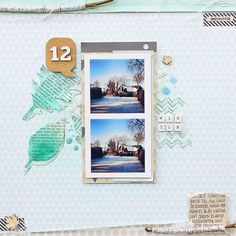 Janna Werner: catching winter on a scrapbooking layout - use branches, e.g.