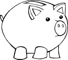 piggy bank coloring page - money piggy bank coloring pages favorite things