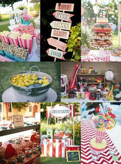 Carnival Themed Wedding Ideas Mood Board from The #Wedding Community