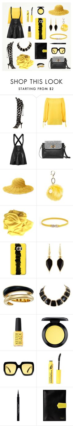 Yellow & Black women outfit set by @savousepate on Polyvore