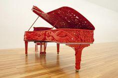 Steinway Grand Piano by Michael Parakowhai for Venice Biennale 2011 Gallery Of Modern Art, Art Gallery, Steinway Grand Piano, Painted Pianos, Maori Designs, New Zealand Art, Nz Art, Contemporary Artwork, Contemporary Design