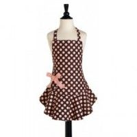 Children's Brown & Pink Dot Apron- Sweet Lulu