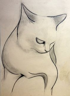 "Saatchi Art Artist Kellas Campbell; Drawing, ""A Cat "" #art"