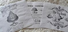 Tea Towels Using TAP or Transfer Artist Paper by Lesley Riley