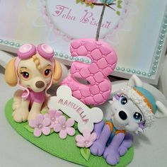 Vela Patrulha Canina  #biscuit #porcelanafria #artesanato #veladebiscuit #veladecorada #patrulhacanina