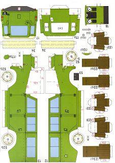 SP. Papel Modelismo: Land-Rover