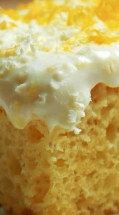Lemon Burst Poke Cake ~ It has all the fresh flavor that comes with lemons, especially the addition of the zest which really gives it that burst. Laying on top is another level of lemony indulgence, lemon white chocolate cream cheese frosting! Lime Desserts, Fun Desserts, Delicious Desserts, Dessert Recipes, Yummy Food, Lemon Recipes, Sweet Recipes, Baking Recipes, Poke Cakes