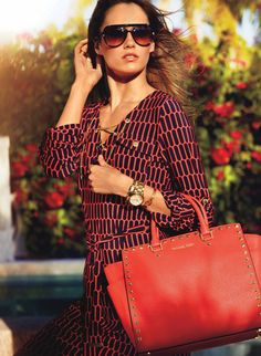 #WhatSheWants Michael Kors Selma Studded Saffiano Large Red Totes Can Be A Nice Friend And Would Be A Member Of Your Family!