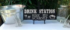 Drink Station blackboard - For Hire @ www.celebrationblackboards.com.au