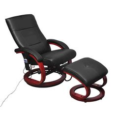 Black Electric Recliner Massage Chair w/ Footstool | Buy Massage Chairs