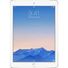 Apple - Refurbished iPad Air 2 with Wi-Fi + Cellular - 64GB (Unlocked) - Gold - Larger Front
