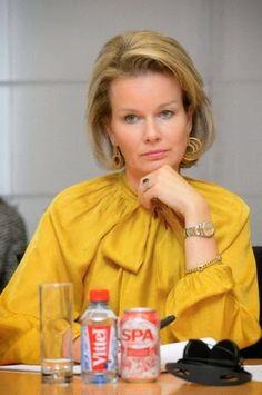 Queen Mathilde of Belgium attends a meeting on the fight against child pornography on internet, organized by Child Focus on 17.10.2014 in Brussels.