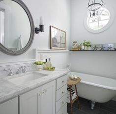 Bathroom: like the trim...we need to do this.