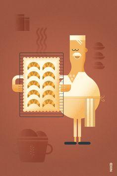 NIKO – Illustrateur › Le Boulanger
