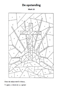 De opstanding Religion Activities, Bible Activities, Easter Activities, Cross Coloring Page, Bible Coloring Pages, Sunday School Lessons, Sunday School Crafts, Bible Study For Kids, Easter Egg Crafts