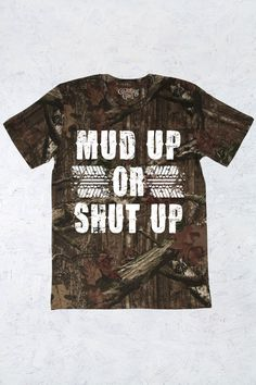Women's Country Girl® Mud Up Mossy Oak® Camo Tee | 5.5 oz., Officially Licensed MOSSY OAK 100% ringspun cotton print jersey