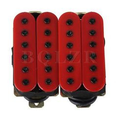 Ceramic Magnet Red Noiseless Guitar Humbucker Bridge Neck Pickup Set