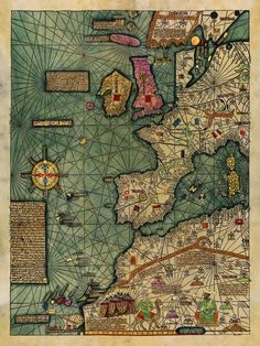 Medieval Map, All Kingdoms of the World, Catalan Atlas, SetYou can find Old maps and more on our website.Medieval Map, All Ki. Old World Maps, Old Maps, Vintage Maps, Antique Maps, Antique World Map, Ancient Maps, Map Globe, Fantasy Map, Historical Maps