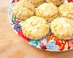 Toasted Coconut Lime Scones with Lime Glaze