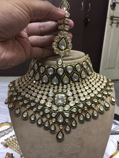 bridal jewelry for the radiant bride Indian Jewelry Sets, Indian Wedding Jewelry, India Jewelry, Indian Bridal, Bridal Necklace, Bridal Jewelry, Choker Necklaces, Earrings, Hyderabadi Jewelry