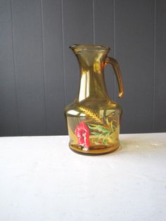 Vintage Italian Amber Glass Water Carafe by DoceVikaVintage Vintage Shops, Decor, Vintage, Glass, Glass Water Carafe, Etsy, Etsy Store, Amber Glass, Vintage Finds