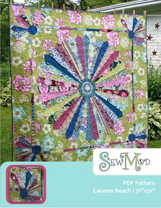 Cannon Beach Dresden Modern Quilt  PDF Pattern-Hardcopy Available