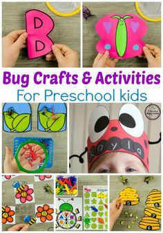 Looking for awesome Bug Activities for preschool? This awesome set is a mix of cute preschool bug crafts and educational activities for your math and literacy centers. They are hands on, and there is some fun science mixed in as well.