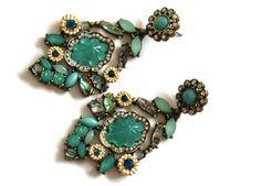Oorbellen Baroque Turquoise :: Le Goût des Couleurs producten - Webshop