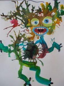 Germ crafts for preschool Kids Art Class, Art For Kids, Crafts For Kids, Free Printable Art, Printable Coloring, Germ Crafts, Globe Crafts, Jr Art, Art Worksheets
