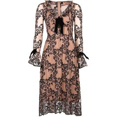 Tiramisu Party dresses ($395) ❤ liked on Polyvore featuring dresses, calf length dresses, midi cocktail dress, mid calf dresses, mid calf cocktail dresses and midi dresses