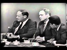 A roundtable discussion on civil rights and the 1963 March On Washington with James Baldwin, Harry Belafonte, Marlon Brando, Charlton Heston, Joseph Minklelwitz, and Sidney Portier.