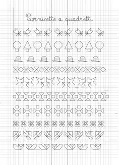 Border (open or fill-in) Blackwork Patterns, Blackwork Embroidery, Cross Stitch Embroidery, Cross Stitch Patterns, Graph Paper Drawings, Graph Paper Art, Boarder Designs, Drawing For Kids, Loom Beading