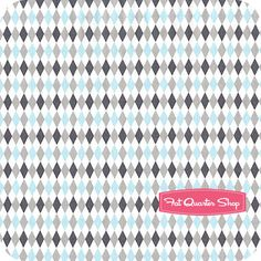 Michael Miller It's a Boy Thing Mini Harlequin in Sea
