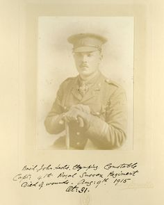 Capt. Basil John Leslie Clymping Constable (|9.8.1915) 1st/4th Bn Royal Sussex Regt. KIA at Suvla, Gallipoli 9.8.1915 aged 30. Educated Radley Coll. Buried Green Hill Cemetery, Gallipoli, Turkey. Grave Ref: II. A. 1. Son of Lionel Leslie & Emily Mary Olivia Constable, of Coates House, Fittleworth, Sussex.