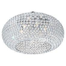 Globo EMILIA Mennyezeti kristálylámpa króm 6 x max. x 46 x 46 cm Flush Lighting, Flush Ceiling Lights, Lighting Online, Beautiful Homes, Decorative Bowls, Chandelier, Home Decor, Glamour, Ideas