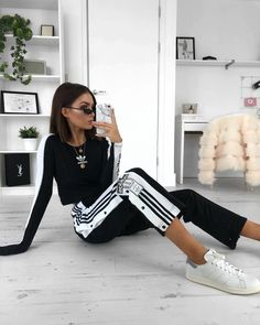 "19.2k Likes, 174 Comments - Alicia Roddy (@lissyroddyy) on Instagram: ""Adidas popper pants yasss ✨ I've teamed up with @jdwomen to give away the ultimate prize bundle…"""