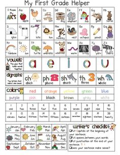Fabulous in First; this would be cool to print and laminate for each student's folder