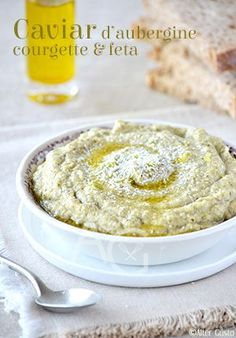 Caviar d'aubergine, courgette & feta Alter Gusto Caviar D'aubergine, Lebanese Recipes, Seasonal Food, Savory Snacks, Dips, No Cook Meals, Cooking Time, Baby Food Recipes, Food Inspiration