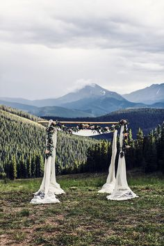 Chuppah on Anticipation Ski Run for wedding ceremony at Timber Ridge, Keystone Resort, CO Luxury Wedding Invitations, Wedding Dj, Summer Wedding, Dream Wedding, Wedding Places, Elope Wedding, Wedding Programs, Wedding Stuff, Wedding Flowers