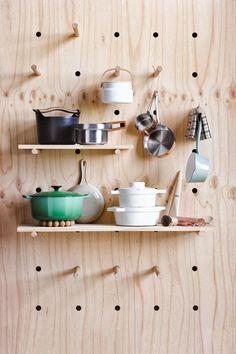 creative solution with shelfs