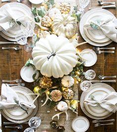 White Tablescape - ELLEDecor.com